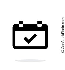 Calendar event day simple icon on white background. Vector...