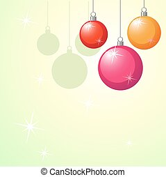 christmas background with xmas balls and stars