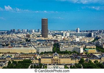 Paris landscape - Aerial view cityscape of Paris in france