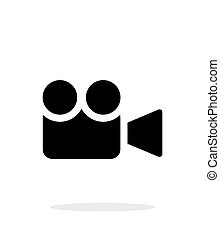 Camera simple icon on white background - Camera icon Vector...