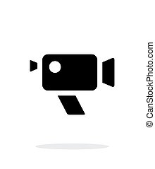 Retro camera simple icon on white background Vector...