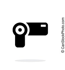 Hand-held camera simple icon on white background. Vector...