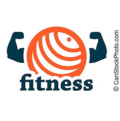 fitness logo - Fitness icon on white for web and mobile