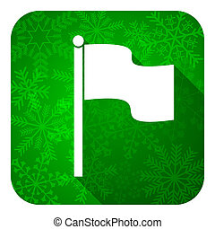 flag flat icon, christmas button
