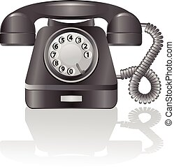Retro telephone Vector - Retro telephone on a white...