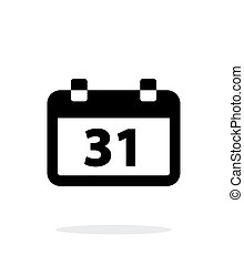 Calendar date simple icon on white background. Vector...