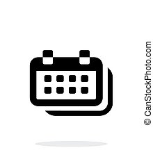 Calendars simple icon on white background. Vector...