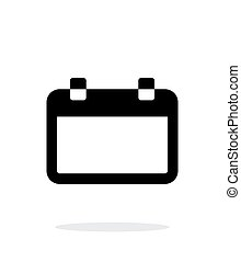Blank calendar simple icon on white background Vector...