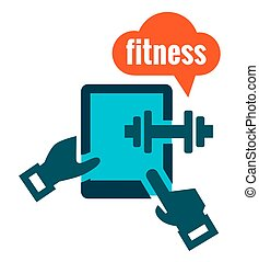fitness icon - Fitness icon on white for web and mobile
