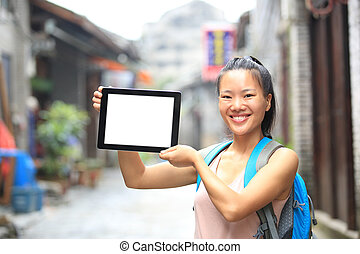 young asian woman tourist