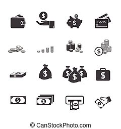 money icon set