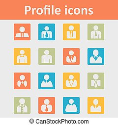 User icons - User login vector icon set