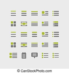 Menu icons - Menu web vector icon set