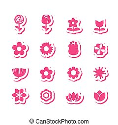 178-1flower icon - flower vector set