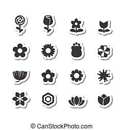 178flower icon - flower vector set