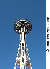 Close up of the Space Needle