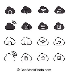 Cloud Computing Icons set