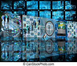 one-story wall - Many abstract images on the theme of...