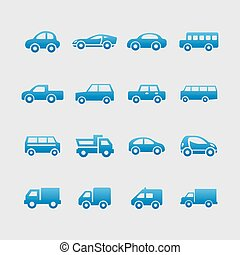 Medical icons - car web vector icon set
