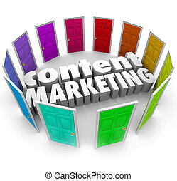 Content Marketing Words Many Doors Channels Formats