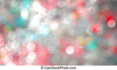 Chaotic Motion Blurred Particles - Colored particles in the...