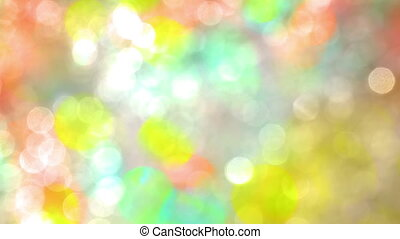 Colored Bright Spots in Bokeh