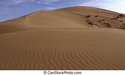Landscape with Dunes - Panorama sandy desert in the evening...