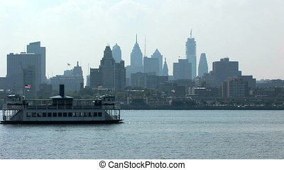 Philadelphia view from New JerseyUS - View of Philadelphia...