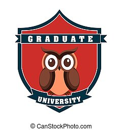 graduate design , vector illustration