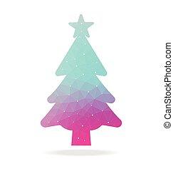 christmas tree with polygon
