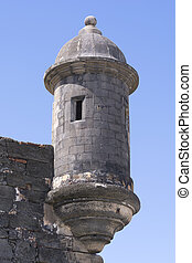 Fortress lookout turret - Medievel stone bartizan or garita...