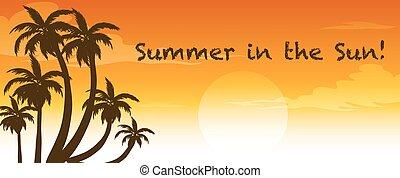 Summer - Illustration of a sign of summer season