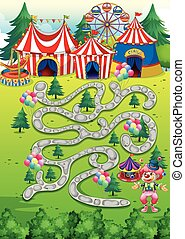 Game - Background of a game with circus theme