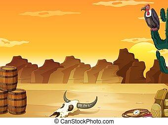 Desert - Wallpaper with desert scene in yellow color