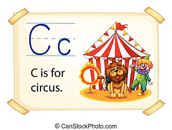 Letter C - Poster of an alphabet C