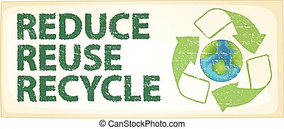 Recycle - Illustration of a recycle poster