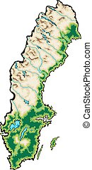 Sweden map - Sweden Map Vector Illustration isolated on a...