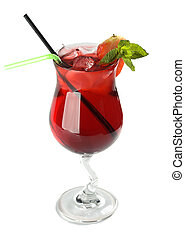 Strawberry cocktail - strawberry cocktail with berry in...