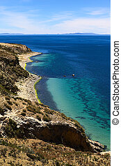 Isla del Sol (Island of the Sun) in Lake Titicaca, Bolivia