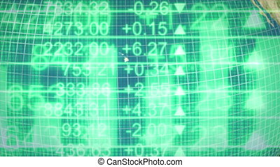 Business Financial Global Looping Animated Background