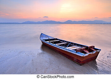 Thai Longtail Boat - Traditional Thai Longtail Boat at...