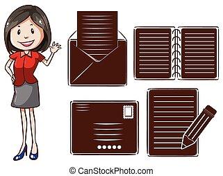 An office girl
