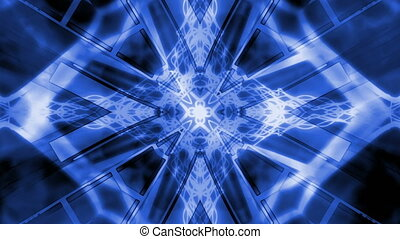 Blue and White Geometric Loop VJ Style Animated Background