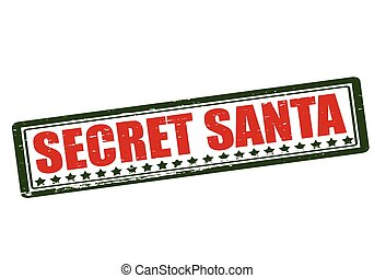 Clip Art Secret Santa Clipart secret santa clip art and stock illustrations 220 rubber stamp with text inside