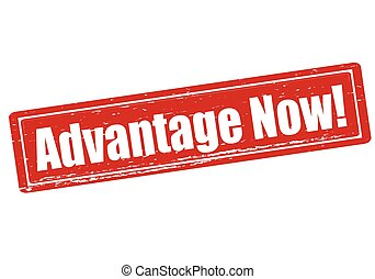 Advantage now - Rubber stamp with text advantage now inside,...
