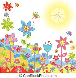 Colorful greeting card