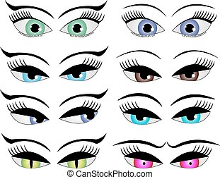 Female cartoon eyes