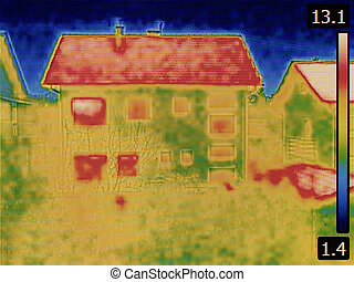House Thermal Image - Thermal Image of the House