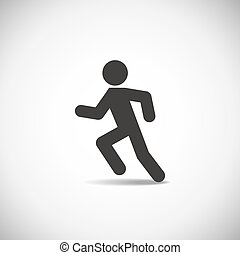 Man running icon on a white background