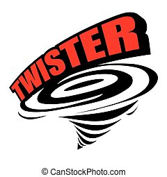 Twister icon vector - The abstract of Twister icon vector